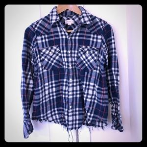 3/25! Golden by TNA Plaid Flannel Shirt